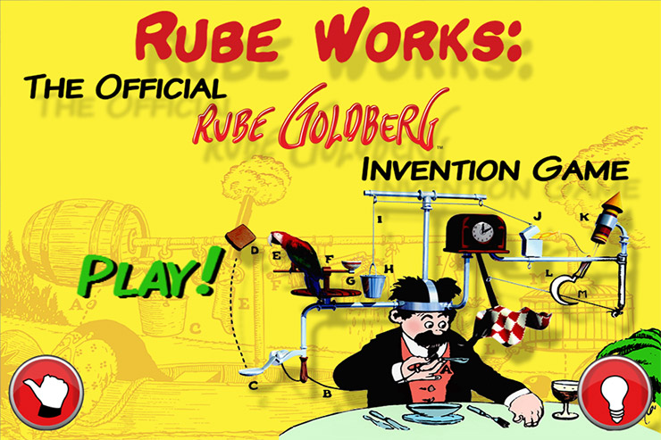 ''Rube Works: The Official Rube Goldberg Invention Game'' splash screen